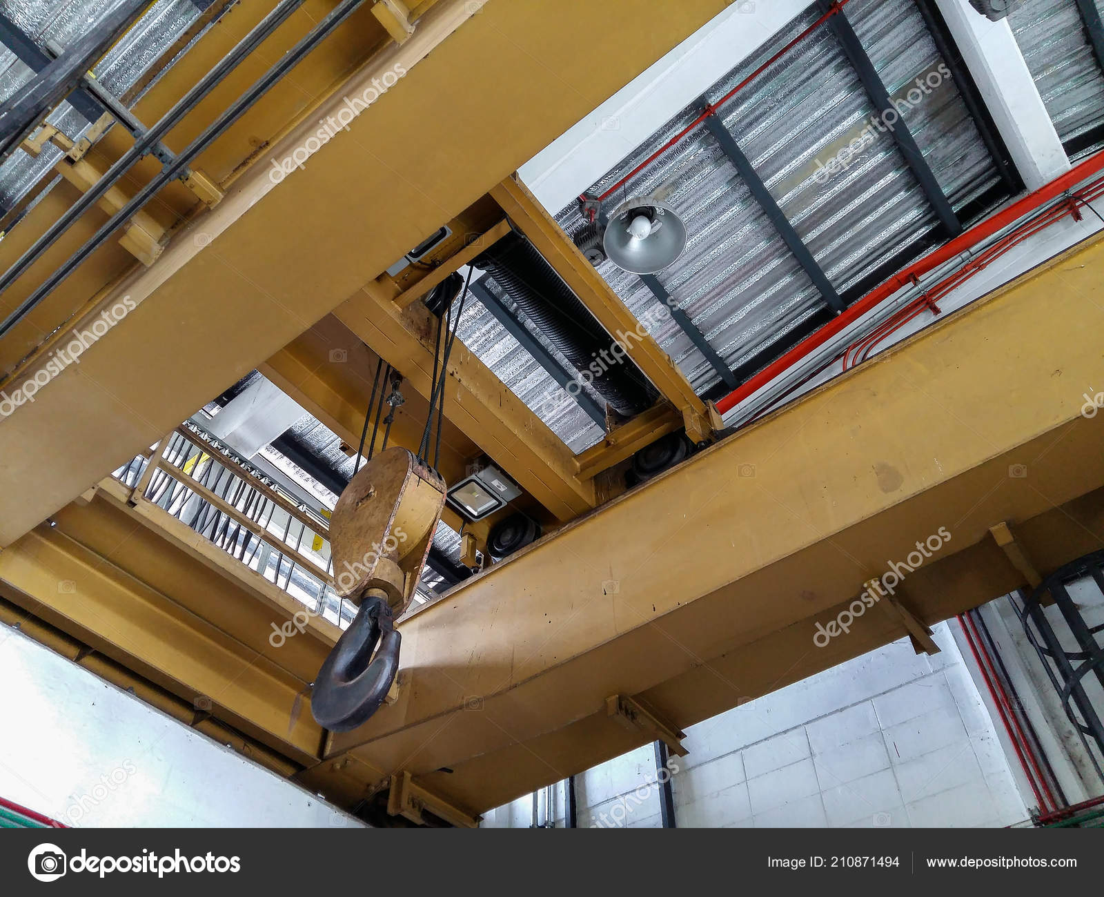 Industrial Crane Hook Loading — Stock Photo © Montor66