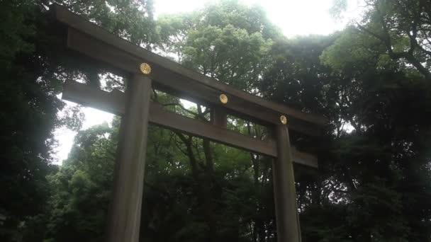 Yoyogi, Tokyo/Japan - August 2th 2017: Its a Torii at Japanese shrine Meijijingu in Tokyo.  camera : Canon EOS 5D mark4