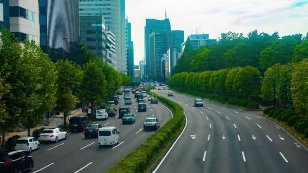 Akasaka, Tokio/Japonsko - 22 srpen 2018: Její umístění města v Tokiu. časová prodleva. fotoaparát: Canon Eos 5d mark4