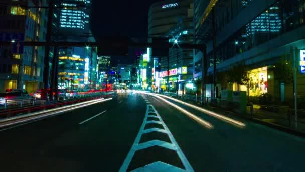 Shinjuku-ku Shinjuku Tokyo / Japonsko - 10.04.2018: její umístění města v Shinjuku Tokyo. časová prodleva. fotoaparát: Canon Eos 5d mark4