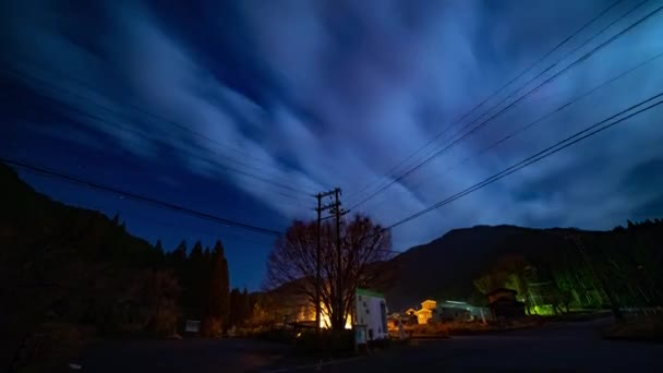 Starry sky time lapse at the forest road in Gifu Japan. Seki-shi Gifu Japan - 11.28.2018 : It s a starry sky in the forest road. camera : Canon EOS 5D mark4