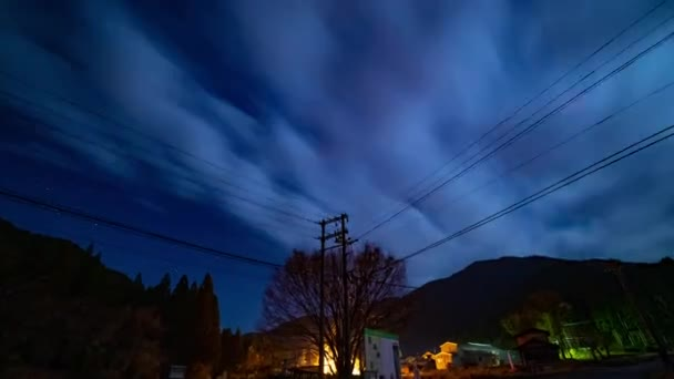 Starry sky time lapse at the forest road in Gifu Japan