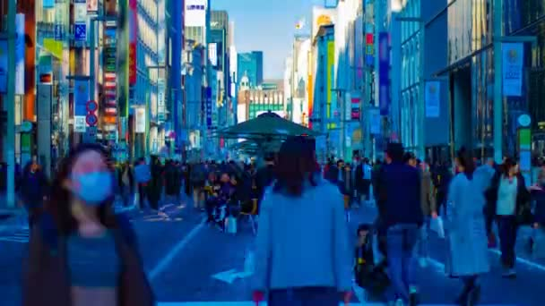 A timelapse of the city street at the downtown in Ginza Tokyo daytime