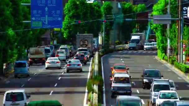 A timelapse of car street at Kanpachi avenue in Tokyo daytime wide shot