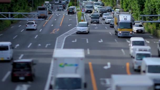 Ulice v centru města na Kanpachi avenue v Tokiu.