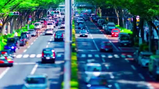 Včas miniaturní městská krajina na Omotesando avenue v Tokiu naklápěcí pánev