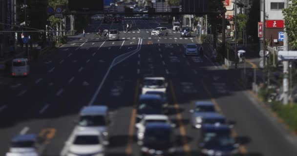 A miniature traffic street at the downtown in Tokyo tiltshift