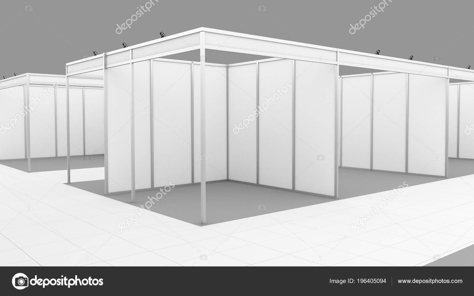 Exhibition Booth Mockup : Blank white trade exhibition booth system stand mockup u stock