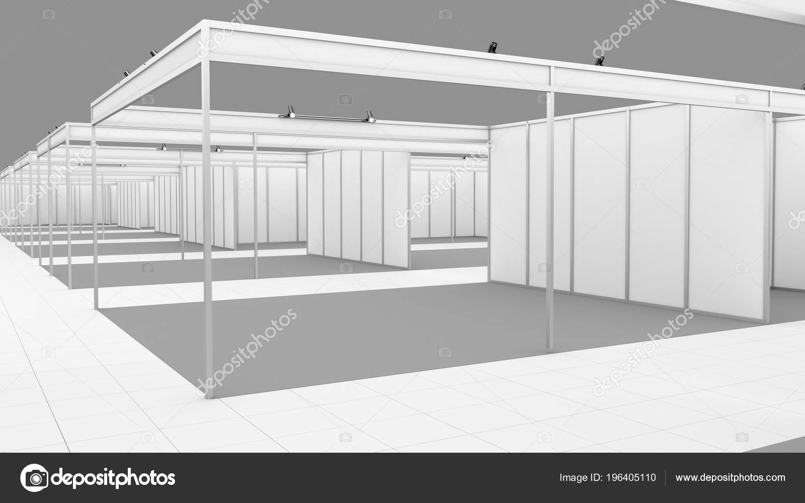 Exhibition Stall Mockup : Blank white trade exhibition booth system stand. mockup. u2014 stock