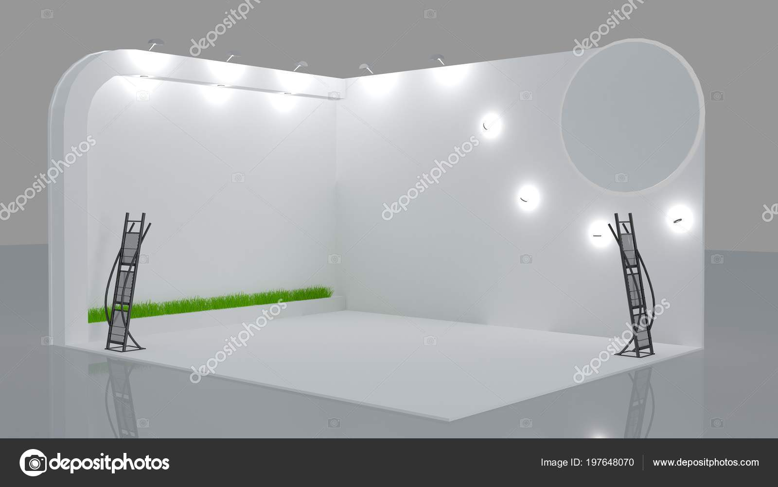 Exhibition Booth Blank : Detailed illustration of a blank exhibition booth eps vector