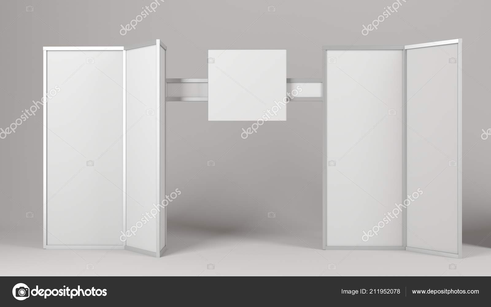 Empty blank stand booth mock-up template  — Stock Photo © klllane
