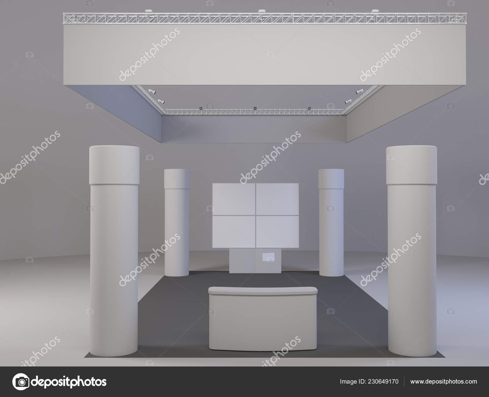 Exhibition Stand Design Mockup Free : Exhibition display stand mockup buy this stock template and