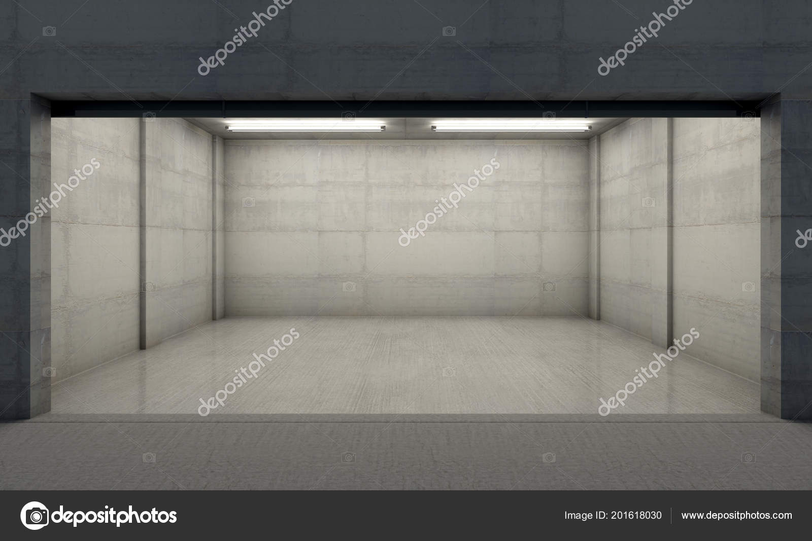 garage inside. Fine Inside A Look Inside The Interior Of An Empty Double Garage Made Out Concrete In  Evening  3D Render U2014   Albund In Garage Inside