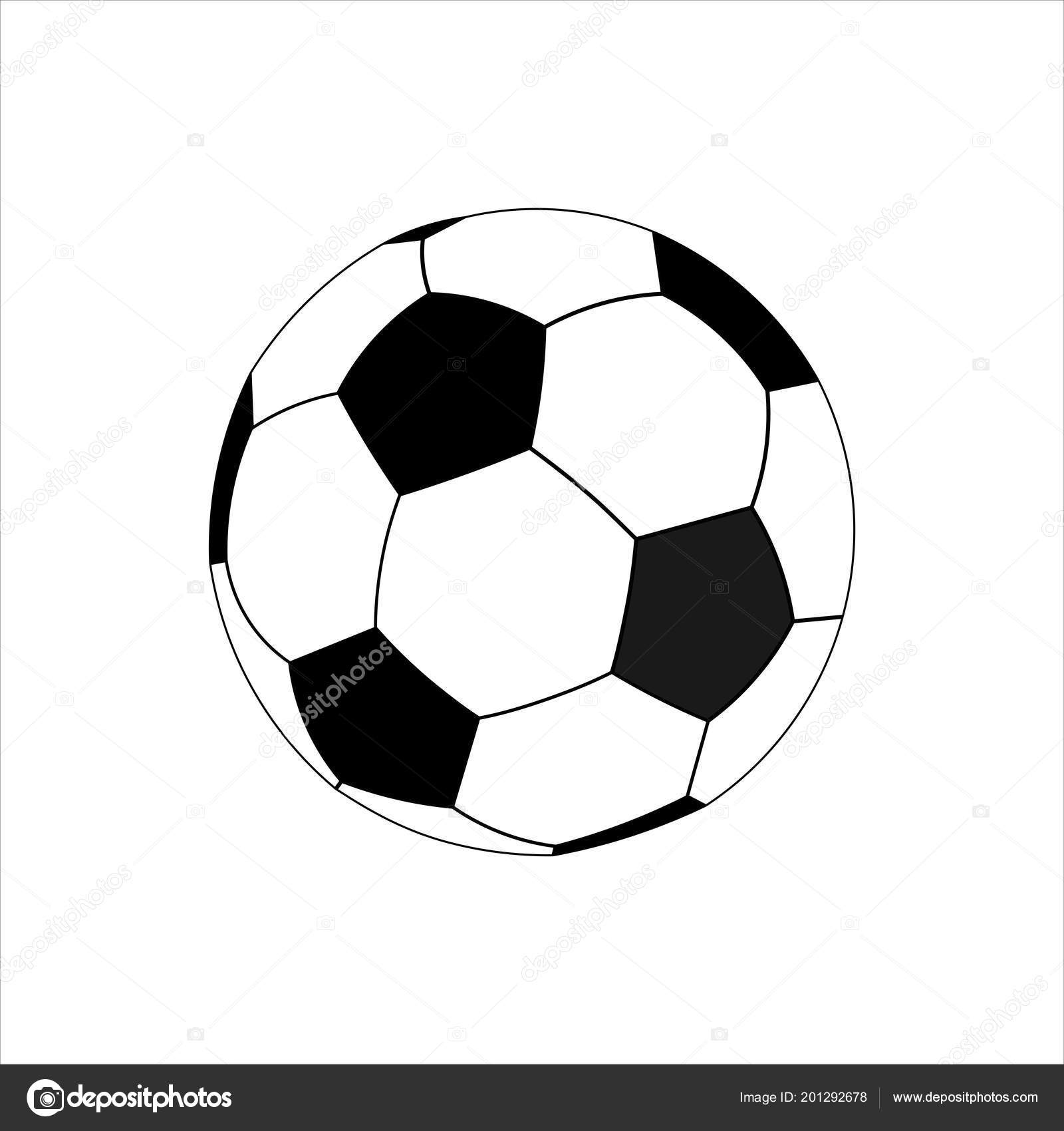 football vector icon soccer ball flat style black white ⬇ vector image by ©  maksymkapliuk | vector stock 201292678  depositphotos