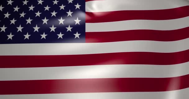 Flag of United States of America in the wind. High quality 4K resolution 3d rendered animation.