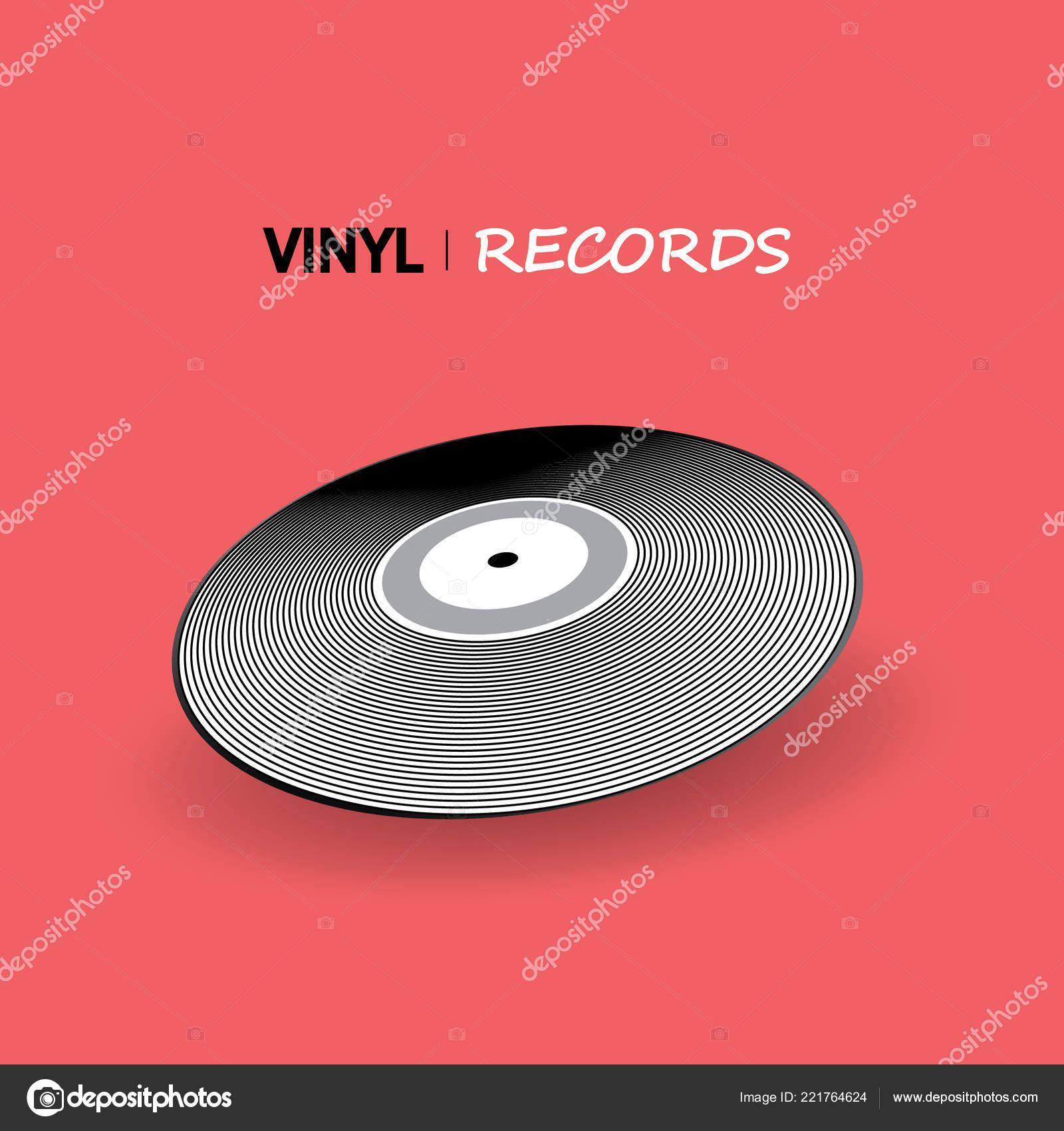 poster vinyl player record music label logo trendy gradient line stock vector c tinakris 221764624 depositphotos