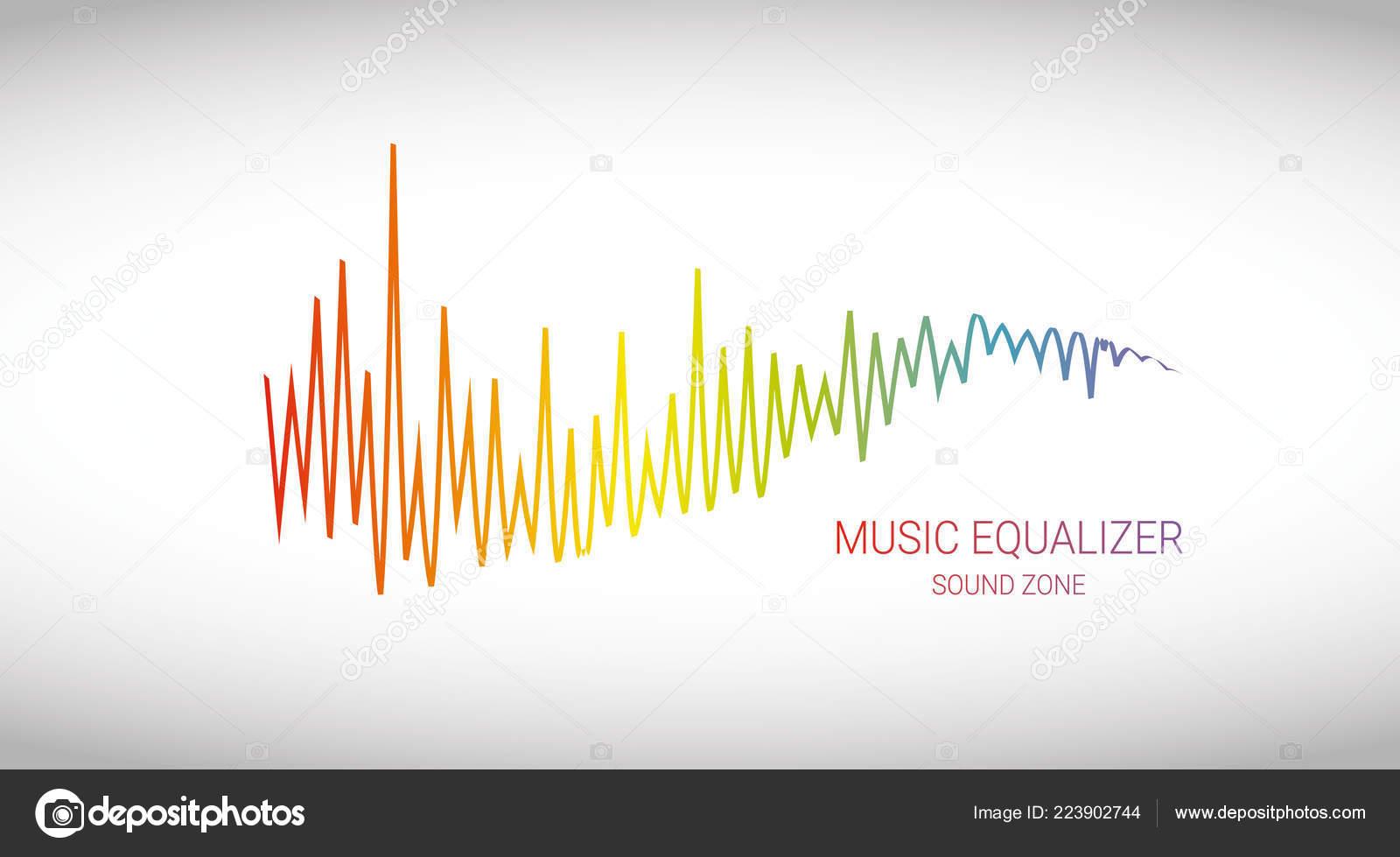 Music player logo | Music wave logo  Color pulse audio