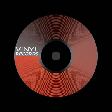 Poster of the Vinyl record. Music label logo