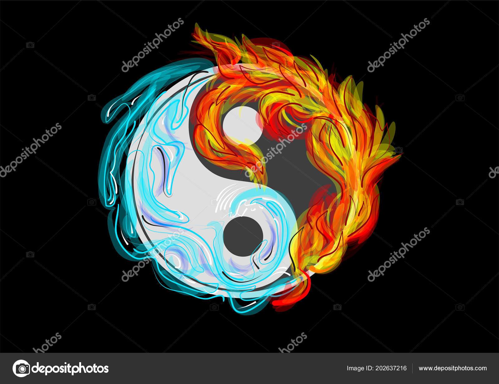 Yin Yang Symbol Water Fire Arkela 202637216