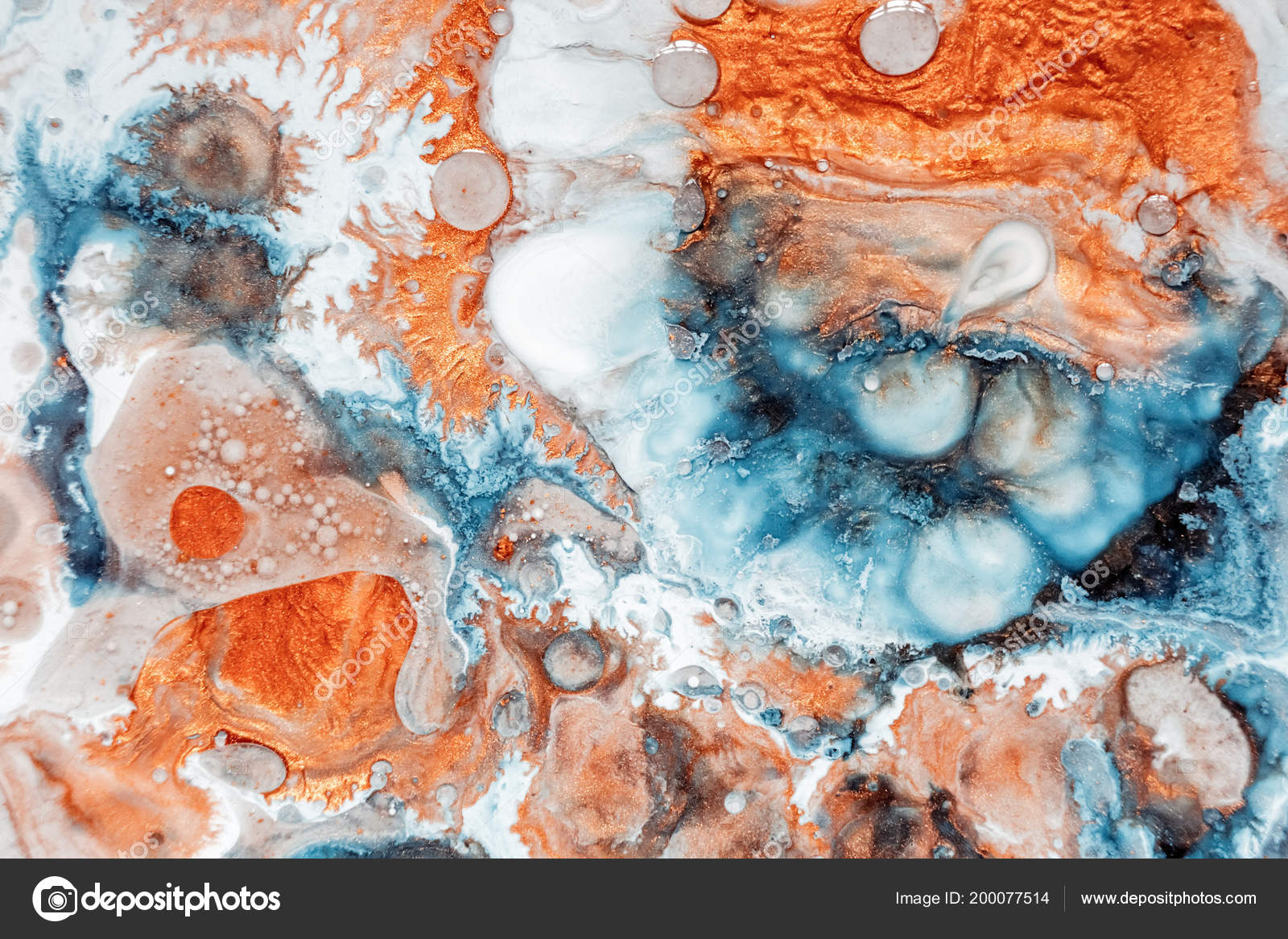 Wallpapers Abstract Paint Abstract Painting Can Be Used As A Trendy Background For Wallpapers Posters Cards Invitations Websites Modern Artwork Marble Effect Painting Mixed Blue Orange And White Paints Stock