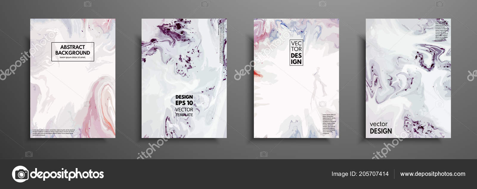 Mixture of acrylic paints  Design template with fluid art  Vector