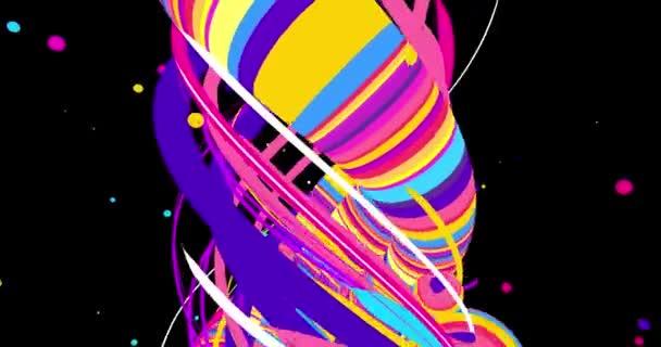 Egy video-val egy pszichedelikus színes minta 4k