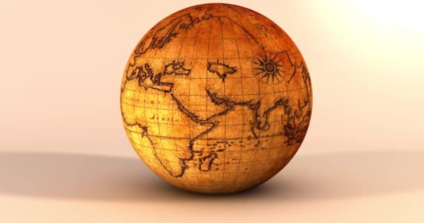 Az animáció, a Föld bolygó egy vintage textúra.