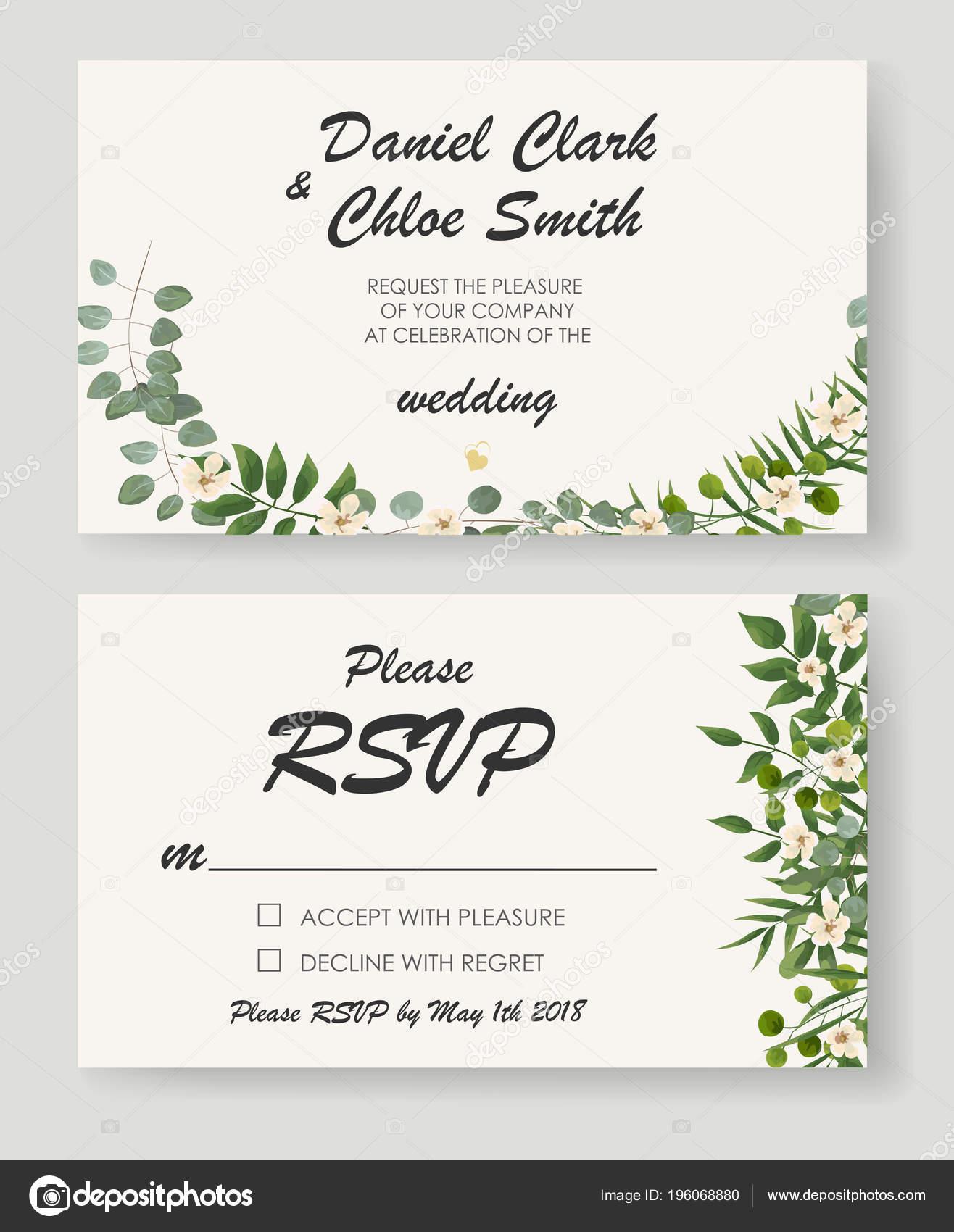 rsvp wedding cards template