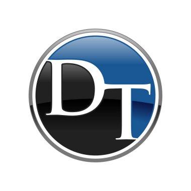 Circle Initial DT Firm Vector Symbol Graphic Logo Design
