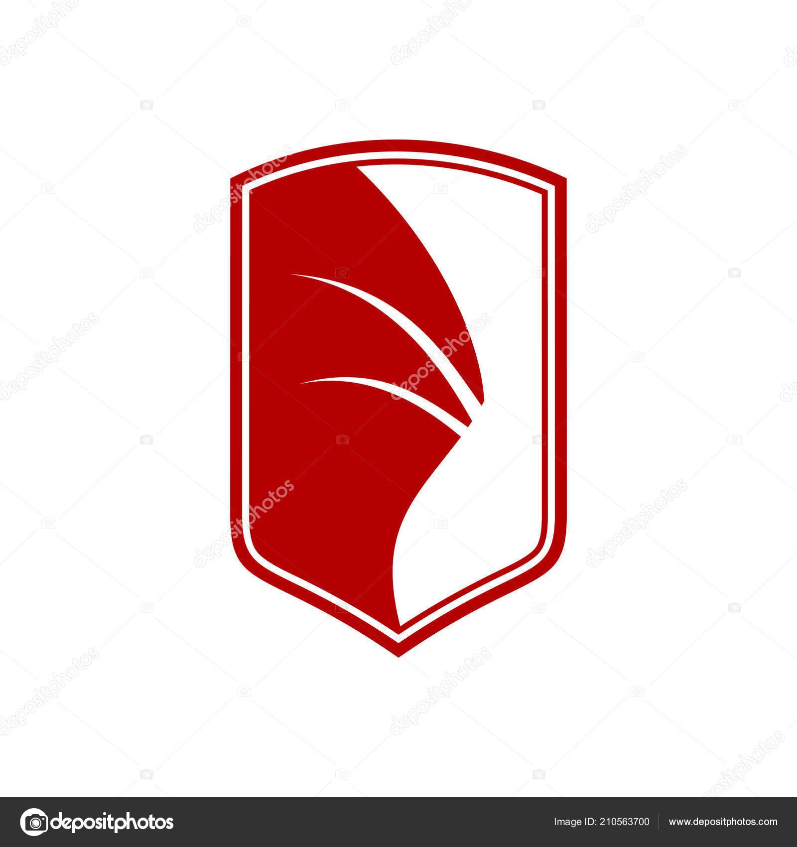 Dragon Wing Shield Sigil Vector Symbol Graphic Logo Design Template Stock