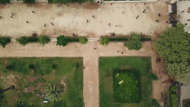 Barcelona, Spain. Aerial view at the Parc de la Ciutadella