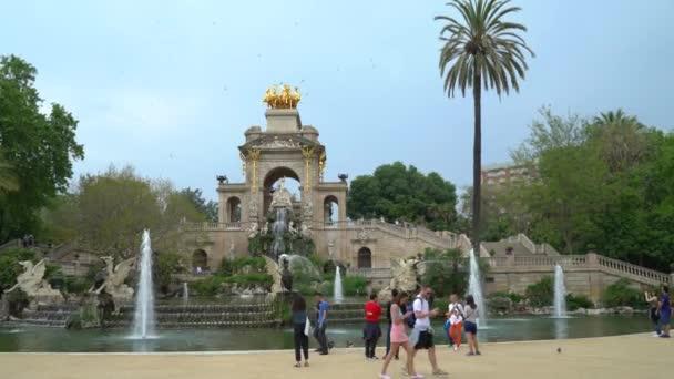 Barcelona, Španělsko - 9 Květen 2018 - panoramatický pohled na Parc de la Ciutadella