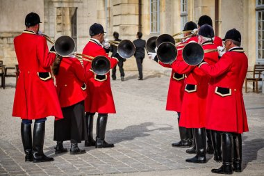 Group of seven hunting horn players in Reims, Grand Est, France taken on 27 June 2014