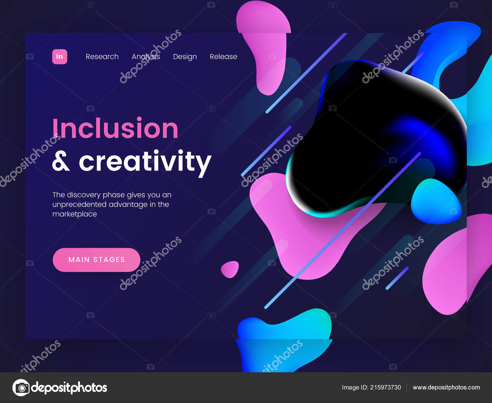 Free dynamic web page template the trend of dynamic website.