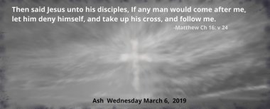 2019 ash Wednesday date with bible quote