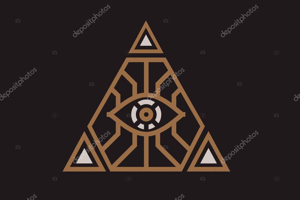 fb4eef2ac1b60 Ilustración icono ver todos símbolo del ojo illuminati pirámide diferentes  vector de stock ratomich jpg 1023x682