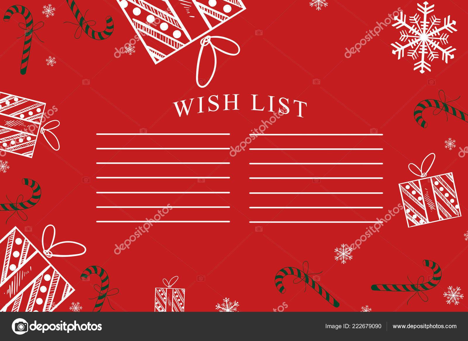 Christmas Wish List Christmas Background Gifts Christmas Decorations