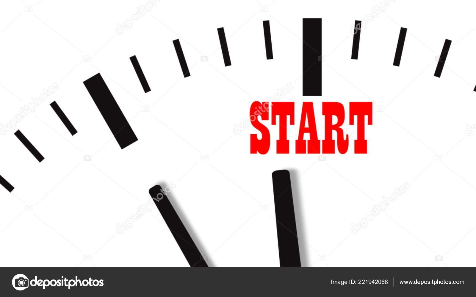 Odpocitavani Hodiny Do Word Start Stock Fotografie C Orelphoto2