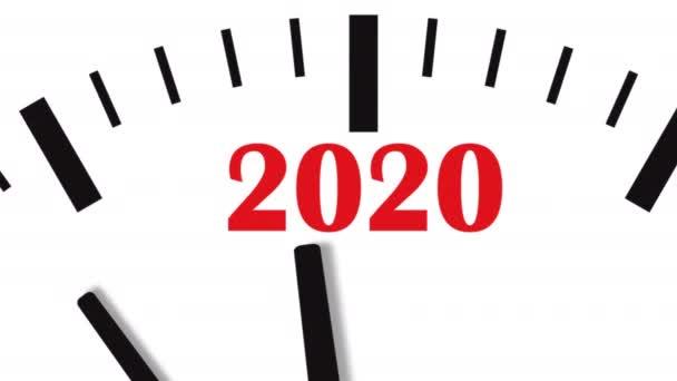 Új év 2020 óra. Óra visszaszámlálás a 2020.