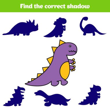 Matching children educational game. Match insects parts. Find missing puzzle. Activity for pre school years kids. Dinosaur.