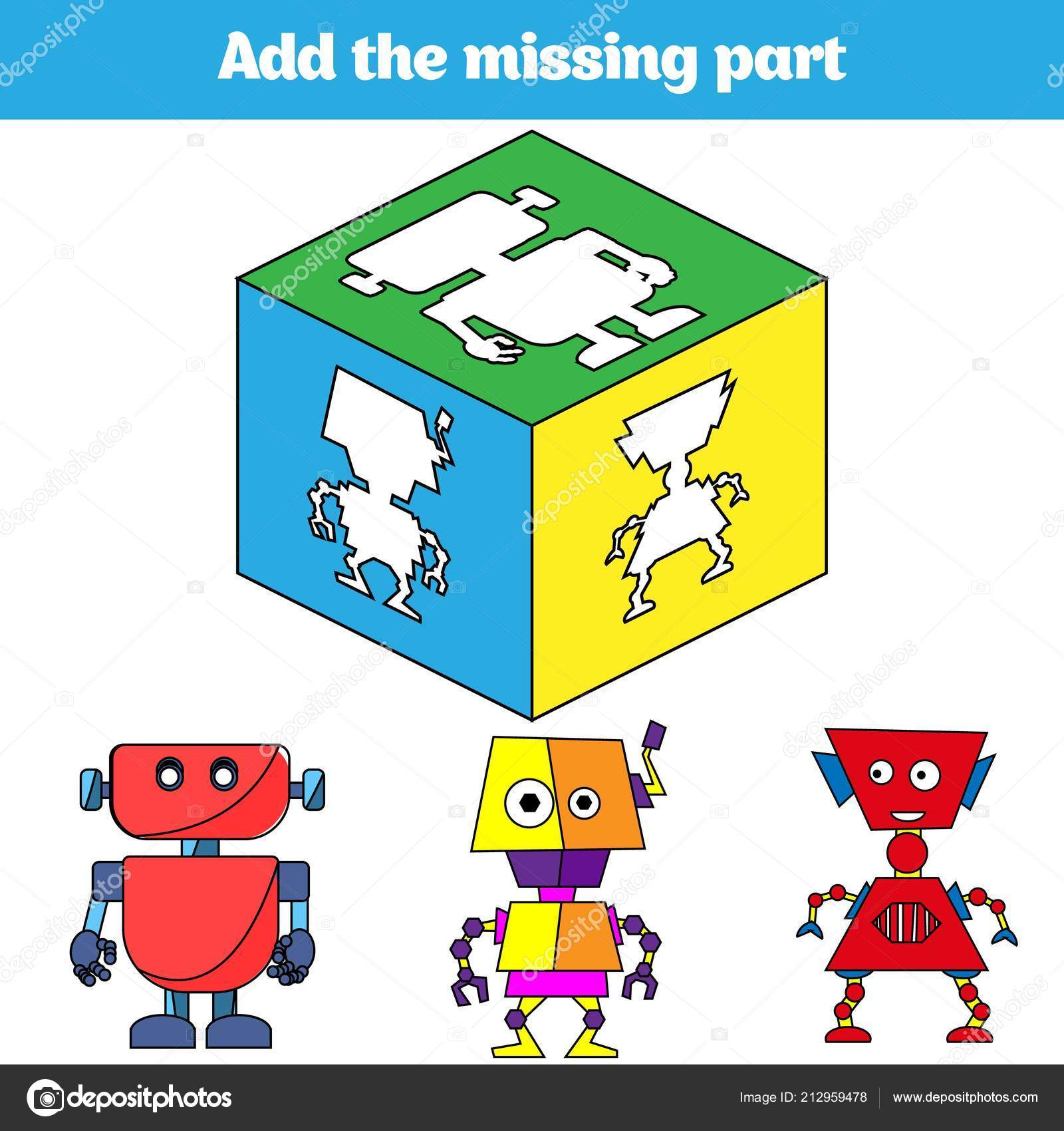 Puzzle Spiel Visuelle Lernspiel Für Kinder Aufgabe Ermitteln Sie Die ...