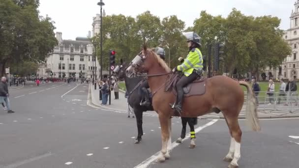 London, UK - October 7, 2019: Mounted police in the streets of London