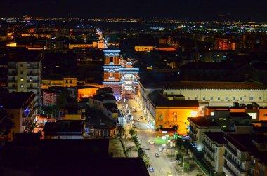 Aversa town near Naples, Italy. Night view
