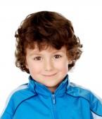 Srandovní chlapec s modrým oblečku