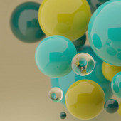 Bright abstract background with colorful spheres. 3d render template for your presentation, bussiness cards,holiday cards,banners,posters,etc.