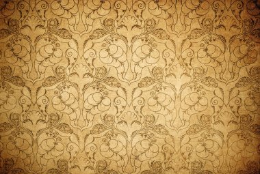 Highly detailed image of grunge vintage wallpaper stock vector