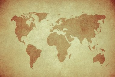 Grunge map of the world stock vector