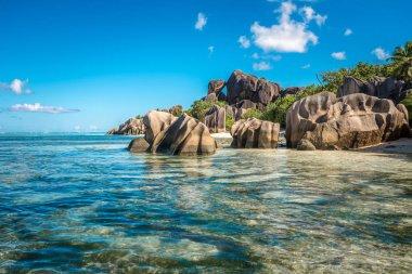 Tropical island beach, Source d'Argent, Seychelles