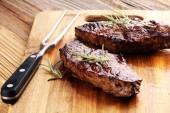 Barbecue Rib Eye Steak nebo Hovězí biftek - suché věku Wagyu Steak z roštěné