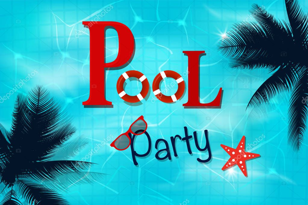 Swimming pool top view background. luxury swimming pool. Summer background.